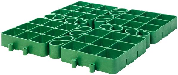 Zielona kratka trawnikowa od Erg-System