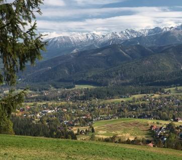 Panorama gór - wypoczynek w Zakopanem