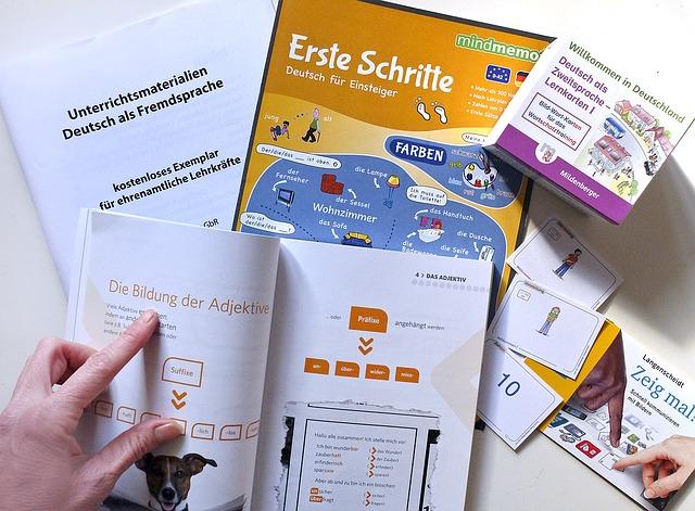 Fiszki do nauki niemieckich słówek