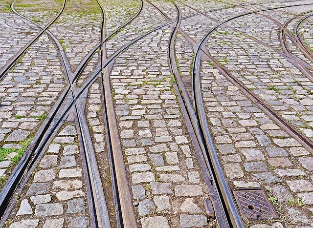 tramwajowe szyny