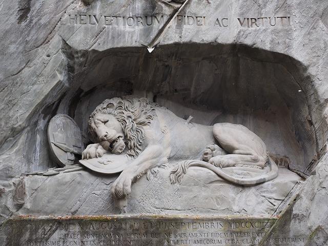 Pomnik Lwa w Lucernie - Szwajcaria