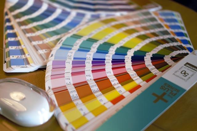 kolorowe próbki z drukarni