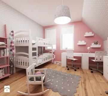 Różowo-szary pokój dziewczynki