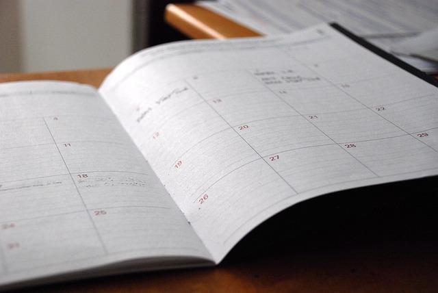 kalendarz książkowy