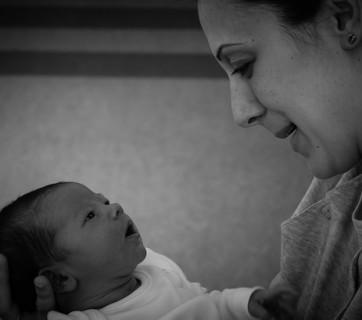 kobieta z niemowlęciem