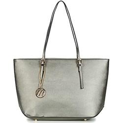 srebrna duza torebka