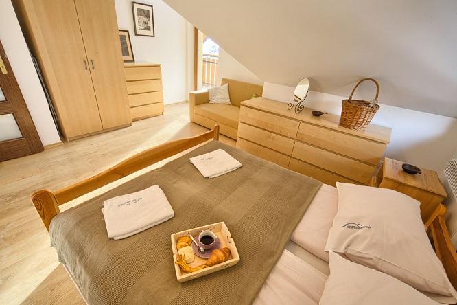 Wygodna sypialnia w apartamencie w Zakopanem