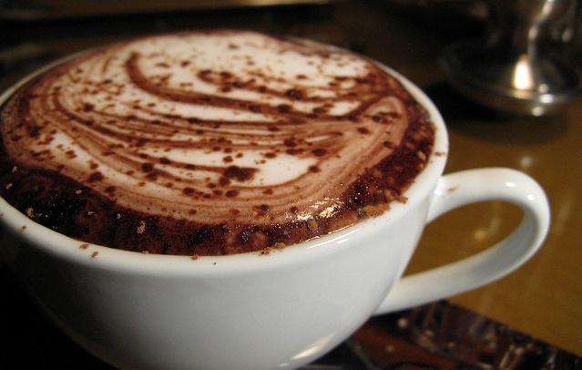 Filiżanka gorącej czekolady