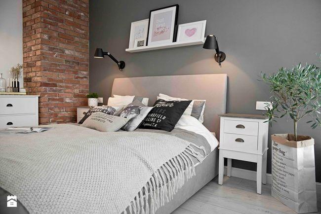 Sypialnia w kolorze szarym