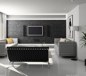 pokój dzienny w nowoczesnym stylu