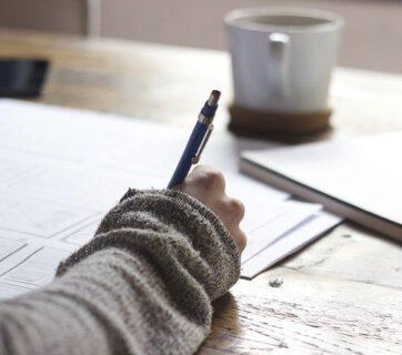 Pisanie w notesie